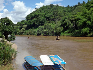 Longtail Boat Trip On The Mekong River